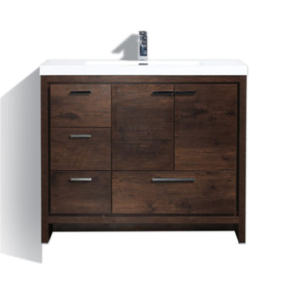 "Moreno Bath MOD 42"" Free Standing Modern BathroomVanity with2 Doors and 3 Left Side Drawers"""