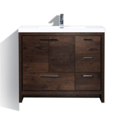 "Moreno Bath MOD 42"" Free Standing Modern BathroomVanity with2 Doors and 3 Right Side Drawers"""