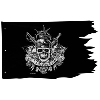 """Pirates of the Caribbean Dead Men Tell No Tales Pirate Flag Wall Decor (50"""" x 30"""")"""""""
