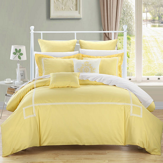 Chic Home Woodford 7-pc. Midweight Embroidered Comforter Set