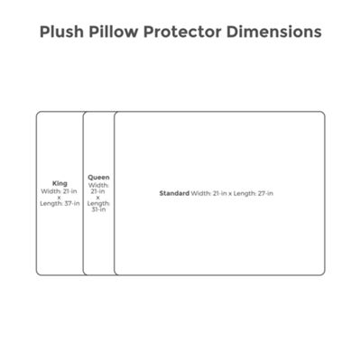 Protect-A-Bed Plush Waterproof Allergen Barrier Pillow Protector