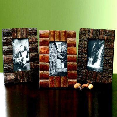 Rustic Tree Bark Tabletop Frame