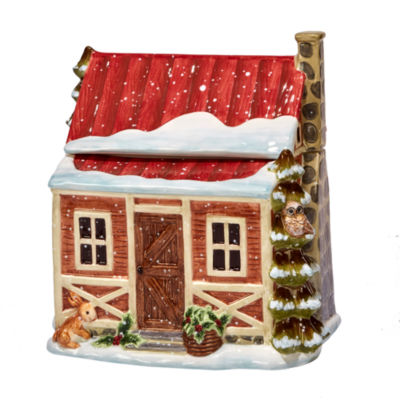 Certified International Winter Lodge Cookie Jar