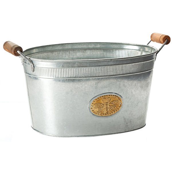 St. Croix Trading Kindwer Galvanized Bumblebee Oval Tub