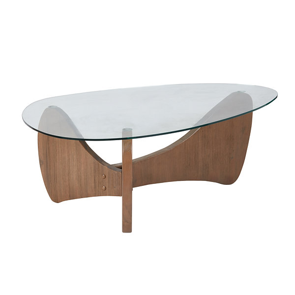 Madison Park Abel Glass Top Coffee Table