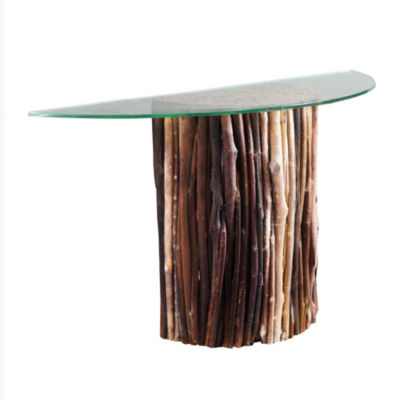 Ink + Ivy Topi Half Moon Console Table