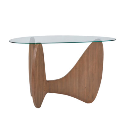 Madison Park Abel Glass Top Console Table
