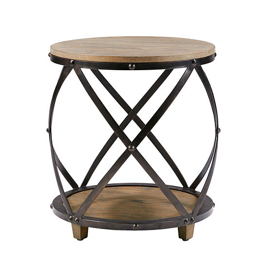 Madison Park Brooklyn Bent Metal End Table