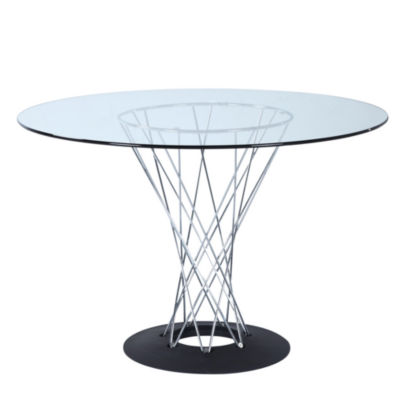 Eastern Glass-Top Dining Table