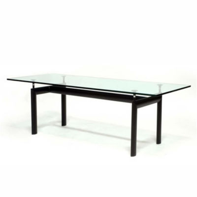Square Glass-Top Dining Table