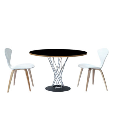 Wire Wood-Top Dining Table