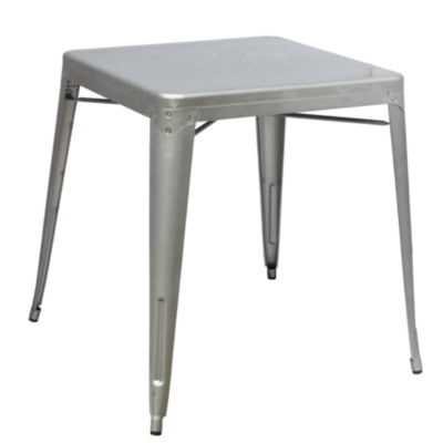 Talix Stainless Steel-Top Dining Table