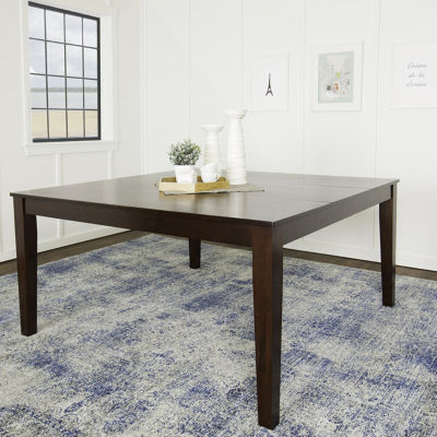 """60"""" Cappuccino Wood Square Dining Table"""