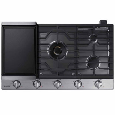 "Samsung 36"" Gas Cooktop with 22K BTU Dual Power Burner"