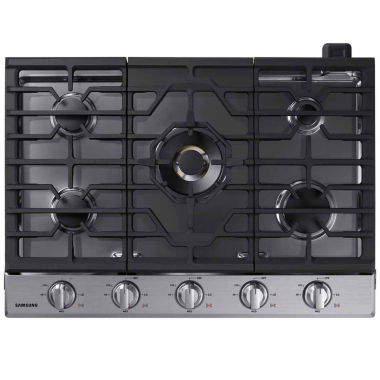 "Samsung 30"" Gas Cooktop with 22K BTU Dual Power Burner"