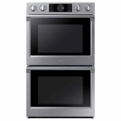 "Samsung 30"" Smart Wi-Fi Enabled Double Wall Oven with Flex Duo™"