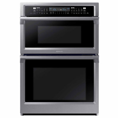 "Samsung 30"" Smart Wi-Fi Enabled Microwave Combination Wall Oven"