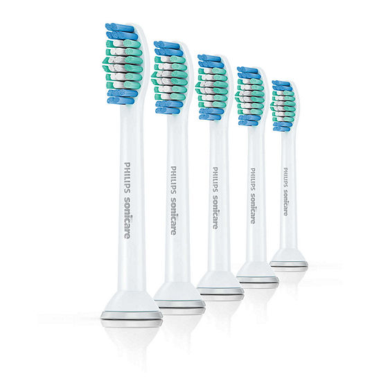 Philips Sonicare HX6015/03 Simply Clean Standard Brush Head, 5-Pack