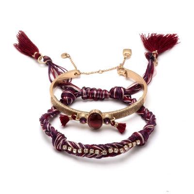 Chaps Womens 2-pc. Bracelet Set