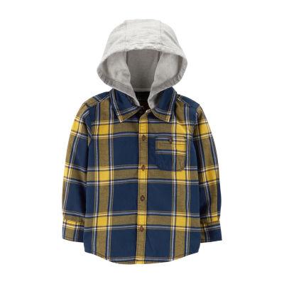 Carter's Long Sleeve Round Neck T-Shirt-Toddler Boys