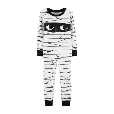 Carter's 2-pc. Halloween Mummy Glow-In-The-Dark Cotton Pajama - Baby Boy