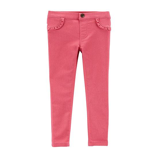 Carter's Girls Ruffle French Terry Pants - Toddler Girls Legging - Toddler
