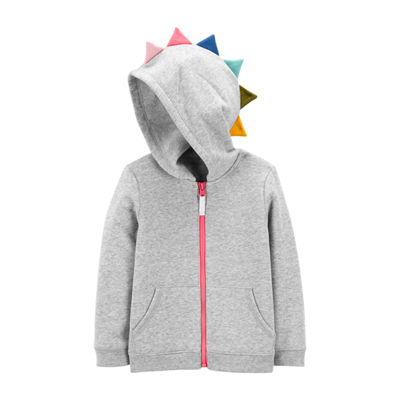 Carter's Zip-Up Spike Hoodie - Toddler Girls