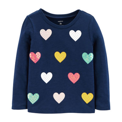 Carter's Sequin Heart Slub Top - Toddler Girls