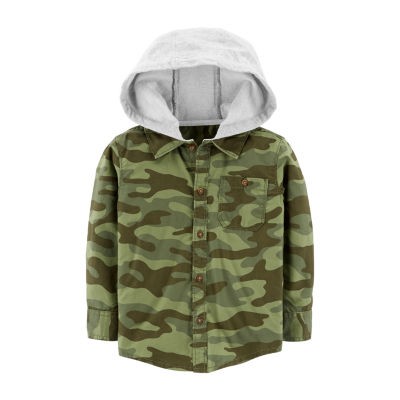 Carter's Graphic Woven Hoodie - Toddler Boys Hoodie-Toddler Boys