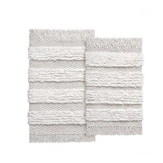 VCNY Cotton Fringe 2-pc. Bath Rug Set