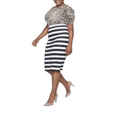 Worthington Printed Scuba Skirt - Plus