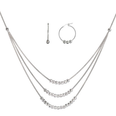 Made in Italy Sterling Silver 2-pc. Jewelry Set