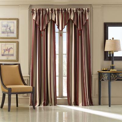 Queen Street Jasper Stripe Rod-Pocket Lined Curtain Panel