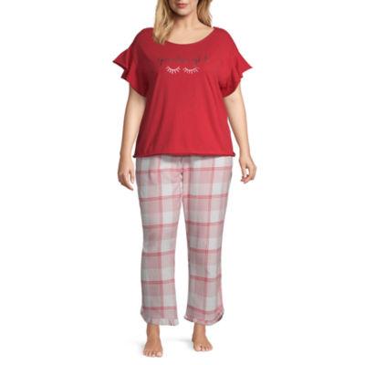 Ambrielle Ruffle Pant Pajama Set- Plus