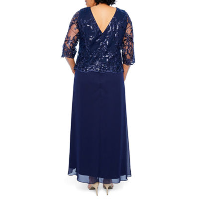 Maya Brooke Embroidered Bodice Gown - Plus