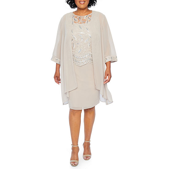 0b050a62d4a Maya Brooke Embroidered Duster Jacket Dress - Plus - JCPenney