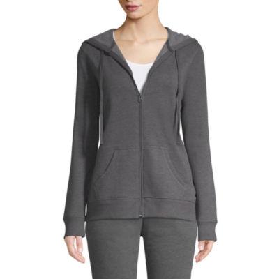 St. John's Bay Active Long Sleeve Fleece Jacket - Tall