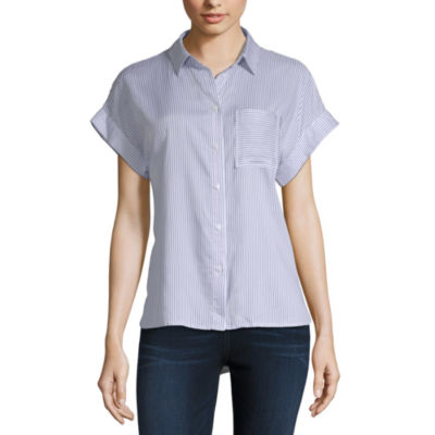 a.n.a Tie Front Shirt - Tall