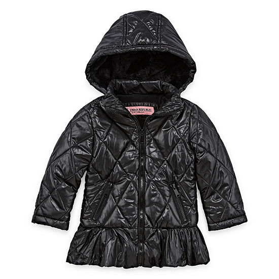 d4bb277b352 Urban Republic - Girls Hooded Heavyweight Puffer Jacket-Preschool - JCPenney