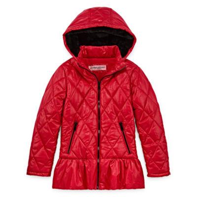 Urban Republic - Girls Hooded Heavyweight Puffer Jacket-Preschool