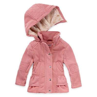 Urban Republic Fleece Hooded Lightweight Jacket-Preschool Girls