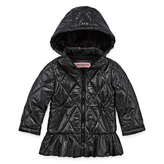 Urban Republic Sateen Hooded Lightweight Jacket-Toddler Girls