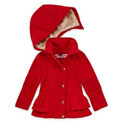 Urban Republic Fleece Hooded Lightweight Jacket-Toddler Girls