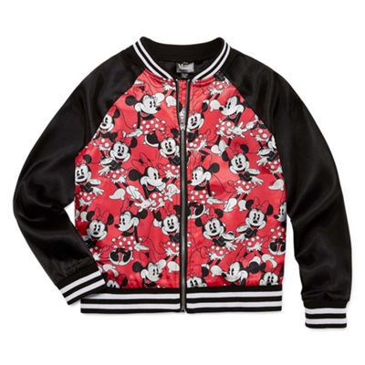 Disney Girls Minnie Mouse Midweight Bomber Jacket