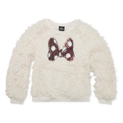 Disney Long Sleeve Minnie Mouse Patchwork Sweatshirt Girls