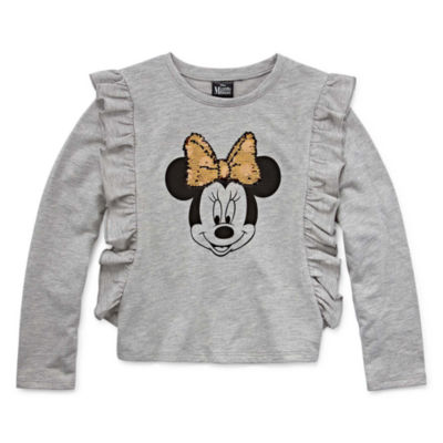 Disney Long Sleeve Minnie Mouse Panel Sweatshirt Girls