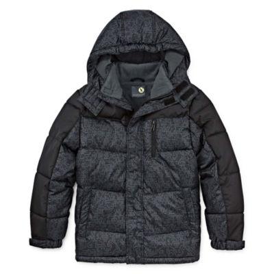 Xersion - Boys Water Resistant Heavyweight Puffer Jacket-Big Kid