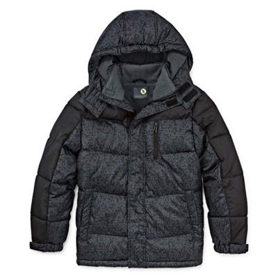 Xersion - Boys Water Resistant Heavyweight Puffer Jacket-Big Kid
