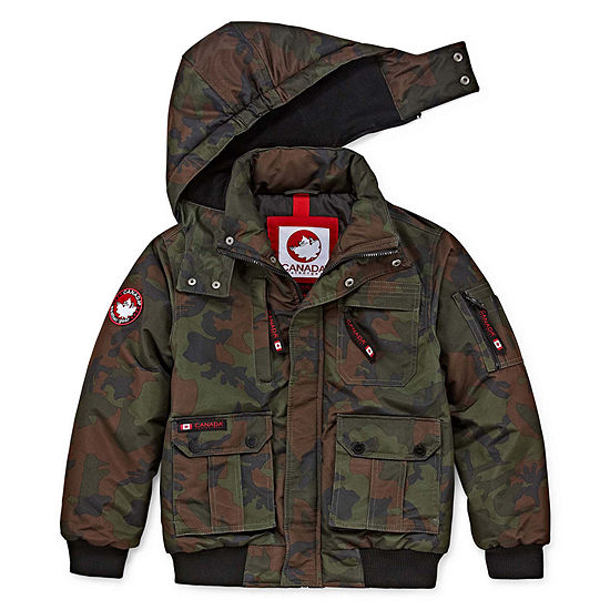 862203bdd Canada Weather Gear Boys Heavyweight Bomber Jacket Preschool   Big ...