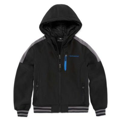 Weatherproof - Boys Hooded Water Resistant Midweight Puffer Jacket-Big Kid